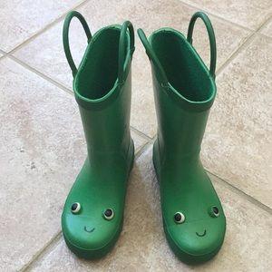 Carter's Boys Happy Frog 🐸 Face Rain Boots